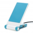Portable Folding Anti-Slip Cell Phone Mobile Holder with USB HUB - Blue