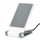 Portable Folding Anti-Slip Cell Phone Mobile Holder with USB HUB - Grey