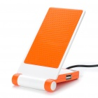 Portable Folding Anti-Slip Cell Phone Mobile Holder with USB HUB - Orange