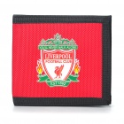 Stylish 3-Fold Liverpool FC Logo Nylon Wallet - Blue