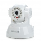 300KP Wired Network Surveillance IP Camera w/ 10-LED Night Vision/Microphone - White