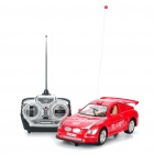 27MHz R/C Racing Car with White 2-LED Light + Remote Controller - Red
