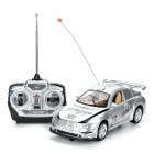 27MHz 5-CH R/C Racing Car with White 2-LED Light + Remote Controller - Silver