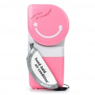 USB / 4xAA Powered Mini Cooler Handliche Air Conditioner - Pink + White