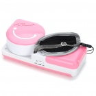 USB/4xAA Powered Mini Handy Cooler Air Conditioner - Pink + White