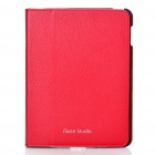 Genuine iTaste Studio Protective Leather Case for iPad 2 - Red
