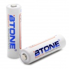 BTONE Rechargeable 1.2V 2000mAh Ni-MH AA Batteries (Pair)