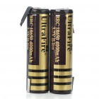 "UltraFire BRC 18650 3.7V ""4000mAh"" Li-ion Batteries - Black + Golden (Pair)"