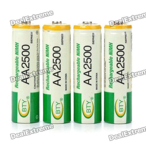 все цены на BTY Rechargeable 500mAh Ni-MH AA Batteries (4-Piece Pack) онлайн
