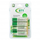 BTY Rechargeable 500mAh Ni-MH AA Batteries (4PCS)