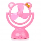 USB/3xAA Powered Cute Style 3-Blades Cooling Fan - Pink