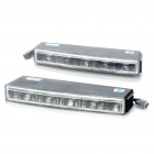 5x0.5W 5-SMD LED 50-60Lumen 6000K White Light Daytime Running Lamp Light for Car (Pair/DC 12V)