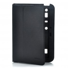 ROCK Protective Leather Case w/ Screen Guard for MOTO XOOM - Black