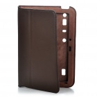 ROCK Protective Leather Case w/ Screen Guard for MOTO XOOM - Coffee