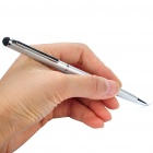 ROCK Stylish Stylus Pen w/ Black Ballpoint Pen for Capacitive Screen Tablet PC/Cell Phone - Silver
