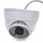 Wired Surveillance Camera w/ 48-IR LED Night Vision - White (PAL)