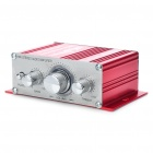 60W Stereo Audio Amplifier for Car/Motorcycle/Golf Cart - Red