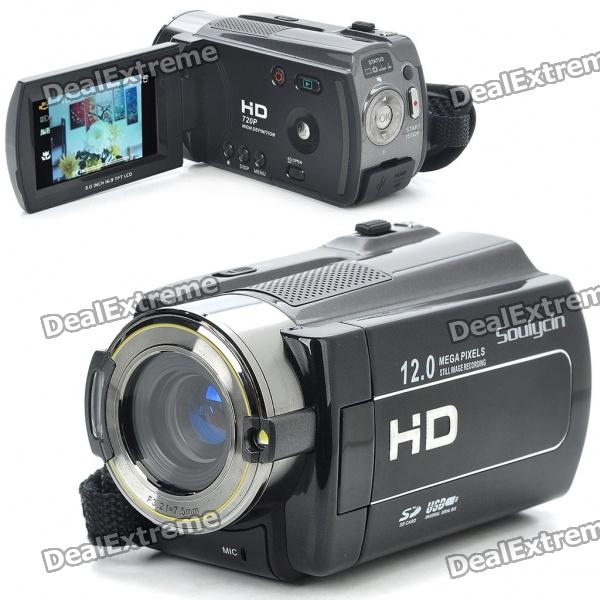 "Soulycin HDV-B920 5.0MP CMOS 720P Digital Video Camcorder w / 8X Digital Zoom / HDMI / AV / SD (3,0 ""LCD)"