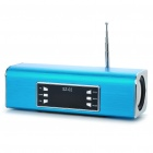 Rechargeable Portable MP3 Music Speaker with FM/3.5mm Audio/USB/TF - Blue
