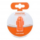 Mini Android Figure Style USB Rechargeable 2-Mode White LED Flashlight - Orange