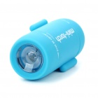 Mini Android Figure Style USB Rechargeable White LED Flashlight - Blue