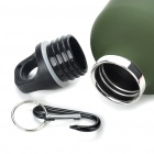 Stainless Steel Vacuum Bottle Flask with Carabiner Clip - Green + Red (750ml)