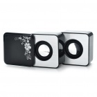 USB Rechargeable Portable MP3 Music Speaker with USB/SD - Black