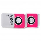 USB Rechargeable Portable MP3 Music Speaker with USB/SD - White