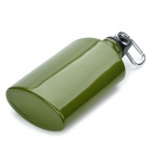 Aluminum Canteen Bottle with Carabiner Clip - Green (500ml)