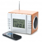 "2.7"" LCD MP3 Player Speaker w/ Calendar/Temperature Display/FM/Alarm Clock/Line In/SD/USB (2 x AAA)"