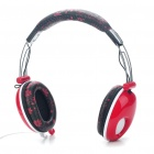 PC/Laptop Headphone with Microphone & Volume Control - Red (3.5mm Jack/180CM Cable)
