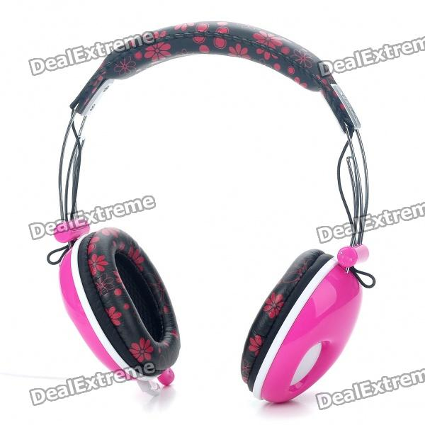 PC/Laptop Headphone with Microphone & Volume Control - Pink (3.5mm Jack/180CM Cable)