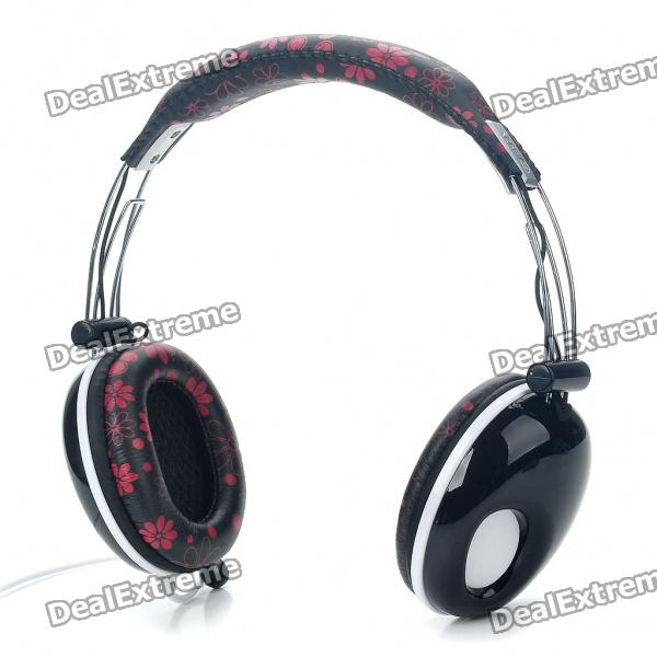 PC/Laptop Headphone with Microphone & Volume Control - Black (3.5mm Jack/180CM Cable) sonun sn 960v stereo headphone with volume control 3 5mm jack 140cm cable