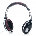 PC/Laptop Headphone with Microphone & Volume Control - Black (3.5mm Jack/180CM Cable)