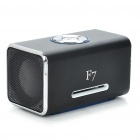 Mini Rechargeable MP3 Music Speaker Player with FM/USB/3.5mm/TF Slot - Black