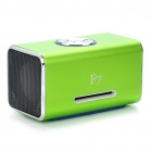 Mini Rechargeable MP3 Music Speaker Player with FM/USB/3.5mm/TF Slot - Green