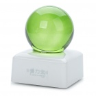 Unique Crystal Ball Shaped USB Powered Resonance Speaker - White + Green