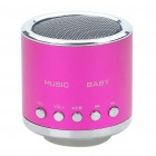 Mini Rechargeable MP3 Music Speaker Player with FM/USB/TF Slot - Deep Pink