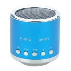 Mini Rechargeable MP3 Music Speaker Player with FM/USB/TF Slot - Blue