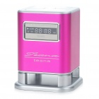 "1.3"" LCD Stylish Rechargeable MP3 Music Speaker Player with FM/USB/TF Slot - Deep Pink"