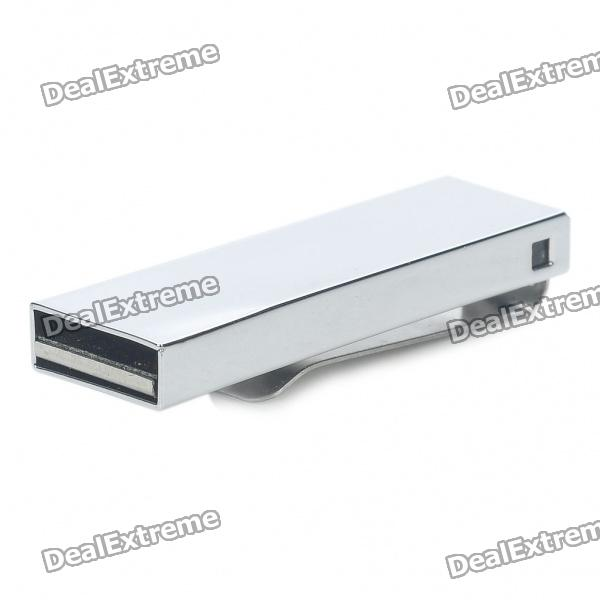 USB 2.0 Stainless Steel USB Flash Drive - Silver (4GB) ourspop u018 metal usb 2 0 flash drive green silver 4gb