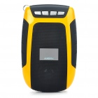 "Mini Portable 1.2"" LCD USB Rechargeable MP3 Music Speaker w/ FM/TF Slot - Yellow"