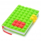 Creative Note Pad with Lego Style Silicone Cover - Random Color (Appr.70 Pages)