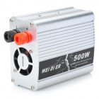 Magnesium Alloy 500W Car DC12V to AC220V Power Inverter with USB Port - Silver