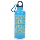 Stylish Aluminum Sporty Water Bottle w/ Carabiner - Blue (500ml)