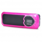"Stylish 0.9"" LCD USB Rechargeable MP3 Music Speaker w/ FM/TF Slot - Rose Red"