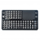 Mini Wireless 2.4GHz Rechargeable Integrated Keyboard w/ Touch Pad Mouse - Black