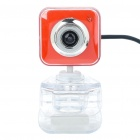 Drive-free USB CMOS 300K Pixel Webcam w/ Clip - Orange + White