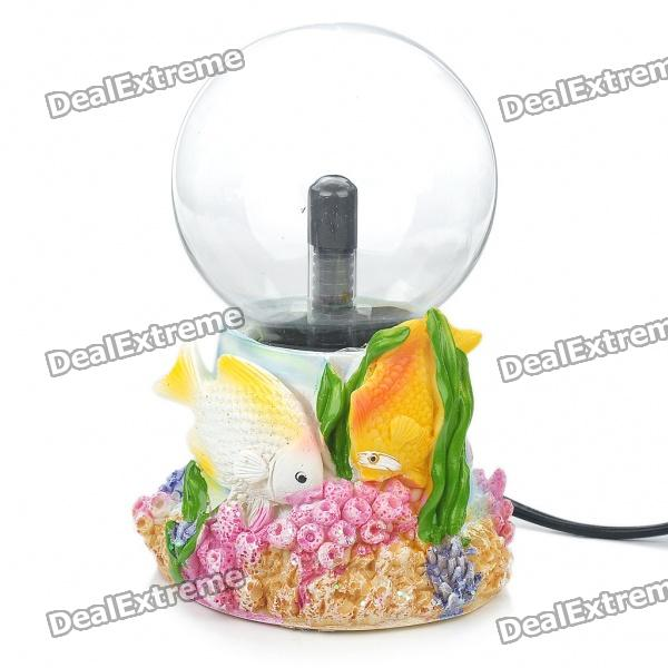 AC Powered Plasma Ball Red Light Lightning Sphere - Fish (210~250V / EU Plug)