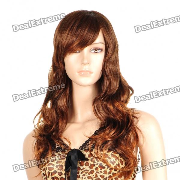 Fashion Long Curly Hair Wigs - Brown